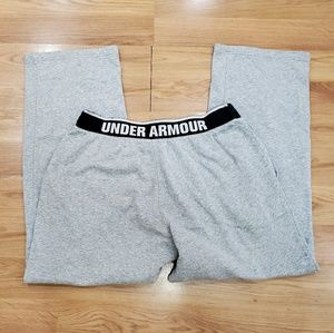 Under Armour Mens 2XL Sweatpants Gray/Black
